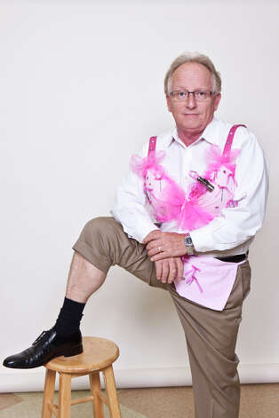 "Don Dodd in ""Nailing Down A Cure for Breast Cancer""  Designed by West Brook High School STARS Drill Team Photo: Courtesy Of The Gift Of Life"