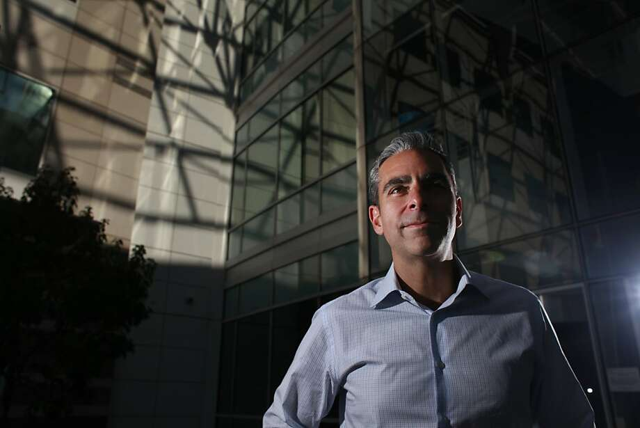 David Marcus, president of PayPal, is trying to spark innovative thinking within the corporate culture. Photo: Mike Kepka, The Chronicle