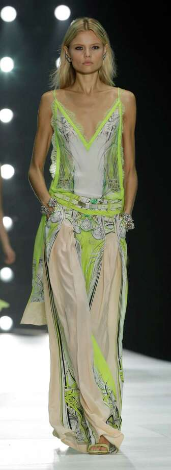 A model wears a creation as part of the Roberto Cavalli collection. Photo: Luca Bruno, ASSOCIATED PRESS / AP2012