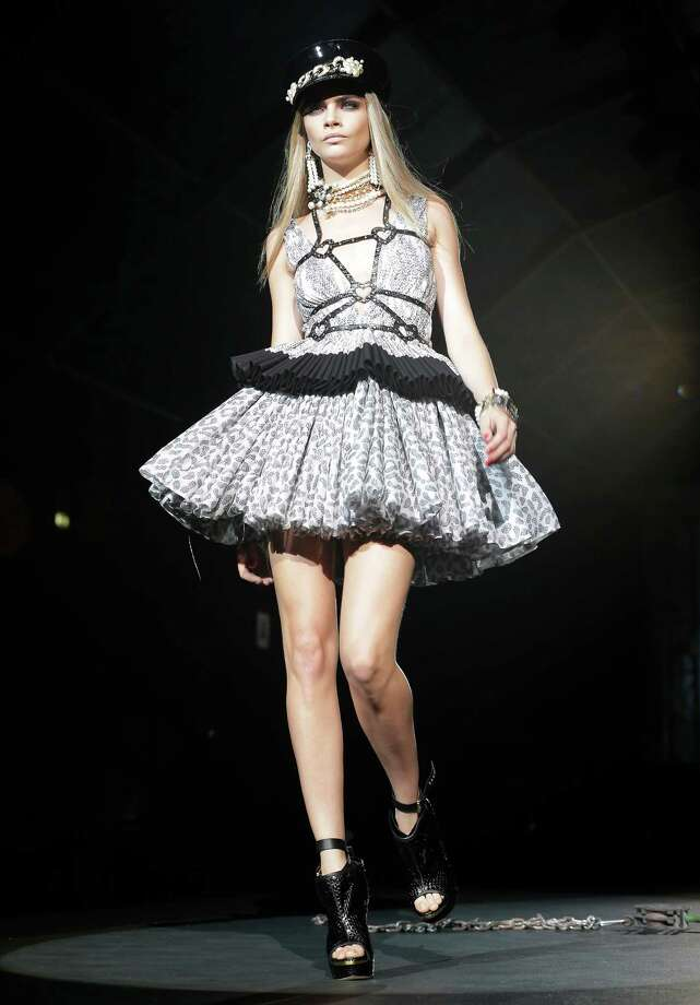 A model wears a creation by DSquared2. Photo: Antonio Calanni, ASSOCIATED PRESS / AP2012