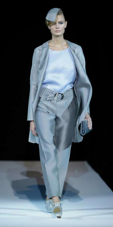 A model wears a creation as part of the Giorgio Armani collection. Photo: Luca Bruno, ASSOCIATED PRESS / AP2012