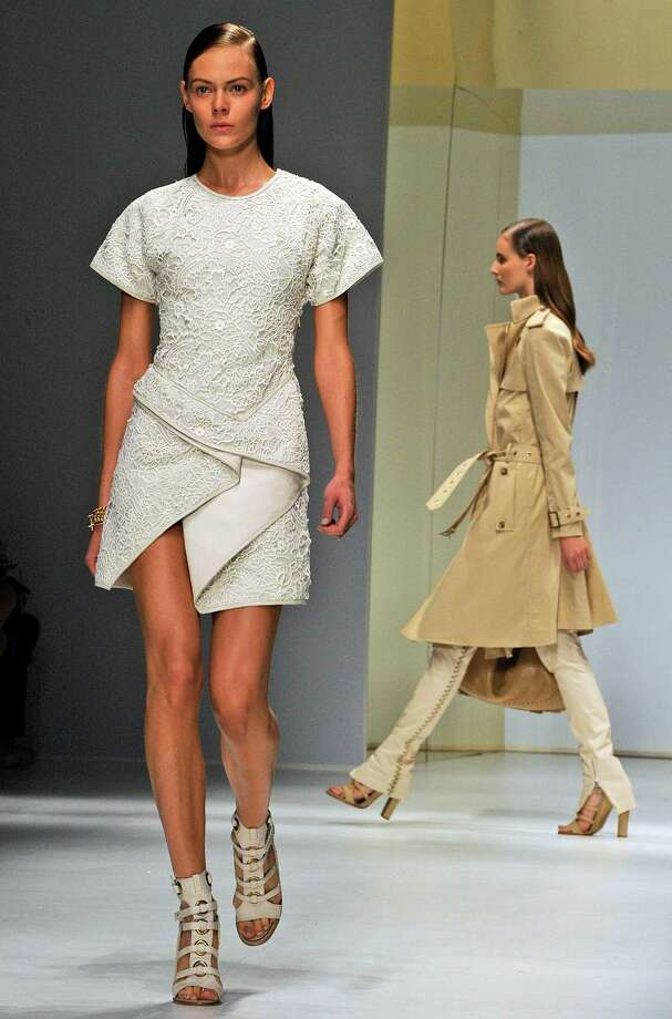 A model wears a creation of Salvatore Ferragamo. Photo: Giuseppe Aresu, AP  / AP2012