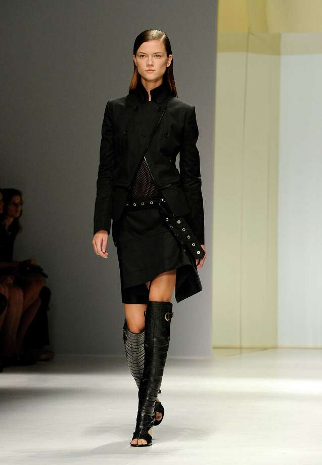 A model wears a creation as part of the Salvatore Ferragamo collection. Photo: Giuseppe Aresu, AP  / AP2012