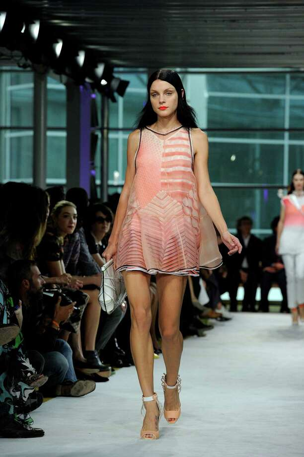 A model wears a creation as part of the Missoni collection. Photo: Giuseppe Aresu, AP  / AP2012