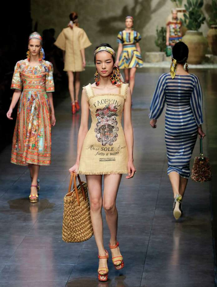 Models wear creations as part of the Dolce & Gabbana  collection. Photo: Antonio Calanni, ASSOCIATED PRESS / AP2012