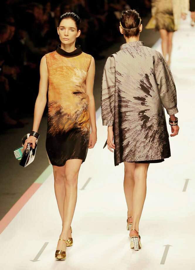 Models wear creations as part of the Fendi collection. Photo: Antonio Calanni, ASSOCIATED PRESS / AP2012