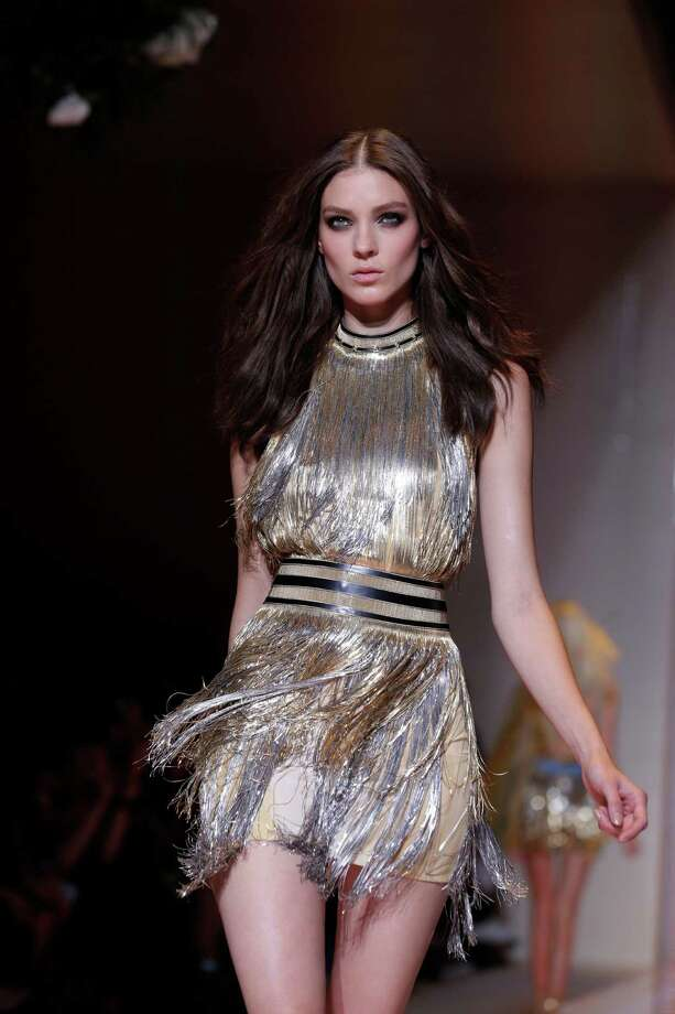 A model wears a creation as part of the Versace collection. Photo: Luca Bruno, ASSOCIATED PRESS / AP2012