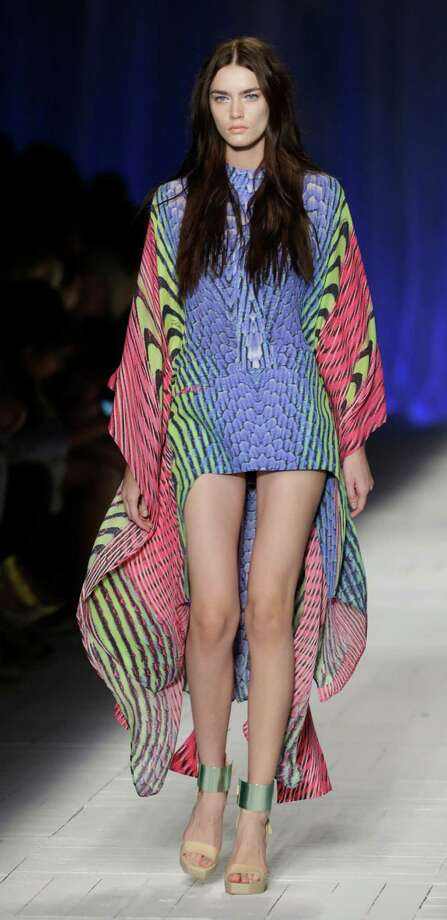 A model wears a creation as part of the Just Cavalli collection. Photo: Luca Bruno, ASSOCIATED PRESS / AP2012