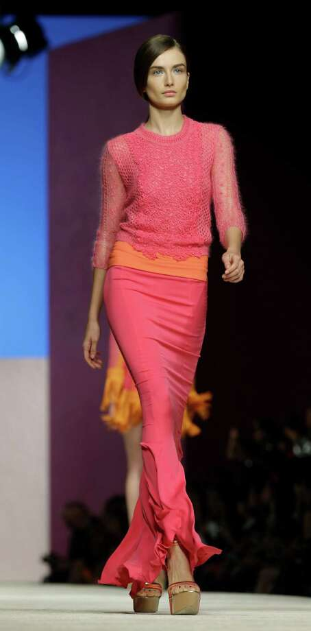 A model wears a creation as part of the Ermanno Scervino collection. Photo: Luca Bruno, AP / AP