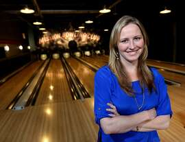 Danae Ringelmann co-founder of Indiegogo an Internet company that helps raise funds for small businesses like Mission Bowling Club on 17th street in San Francisco California, Friday September 21, 2012.