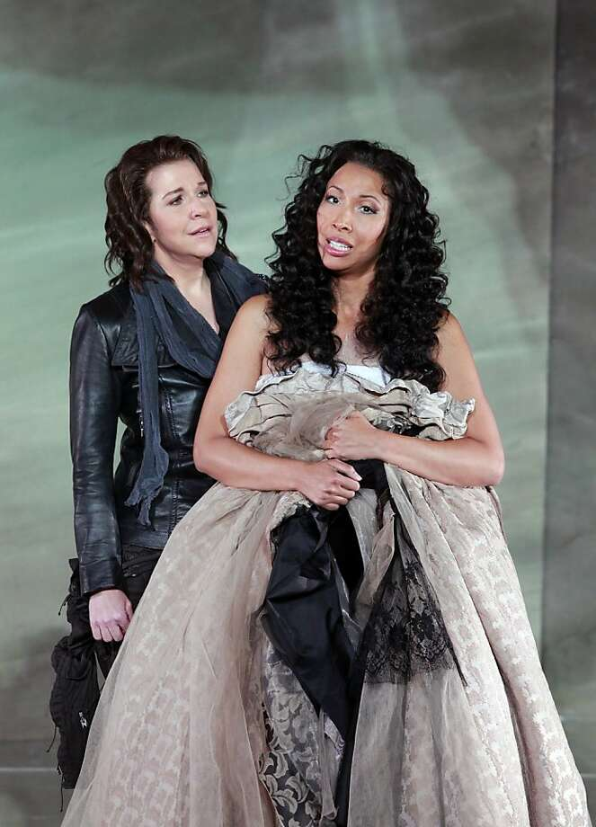 Joyce DiDonato (left) portrays Romeo and Nicole Cabell plays Juliet in Bellini's rarely heard work. Photo: Cory Weaver