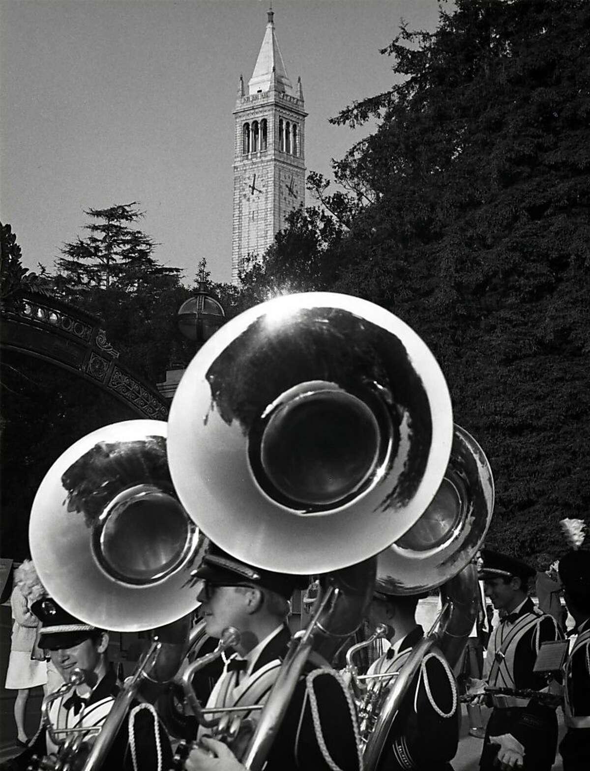 Fiat Lux Pre-football game parade, UC Berkeley, 1966.