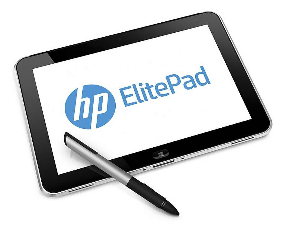 The HP ElitePad 900, which will feature a specialized stylus, is designed to work with Microsoft's Windows 8 operating system. Photo: Hewlett-Packard Company