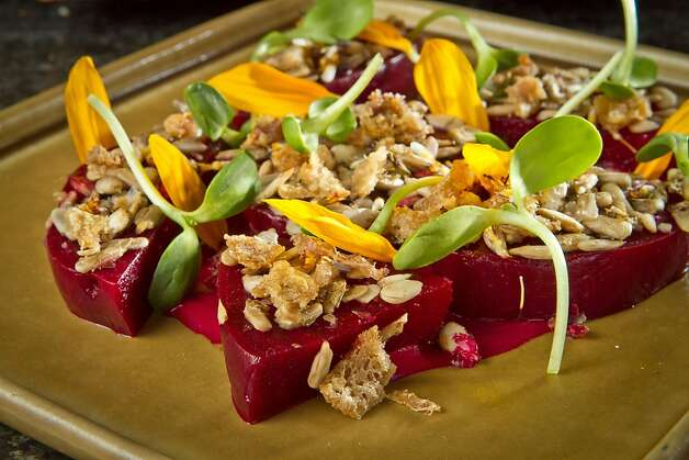 The Roasted Beets with Duck Fat Vinagarette atRich Table in San Francisco is seen on Wednesday, September 19th, 2012. Photo: John Storey, Special To The Chronicle