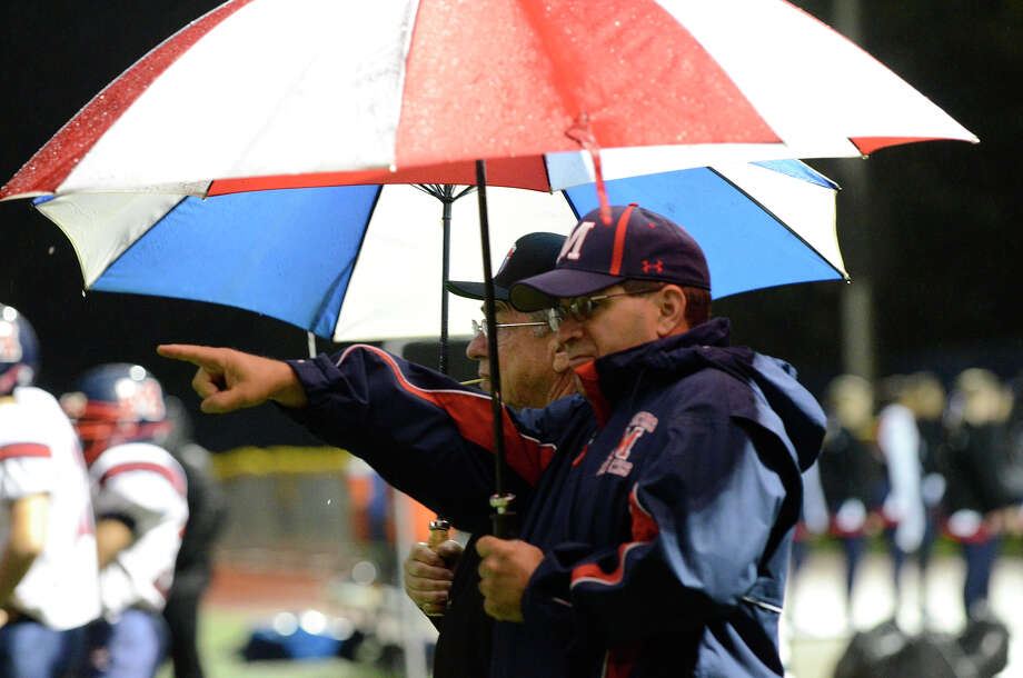 Staples High School hosts Brien McMahon High School in varsity football in Westport, CT on Sept. 28, 2012. Photo: Shelley Cryan / Shelley Cryan for the Stamford Advocate/ freelance Shelley Cryan