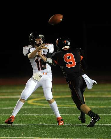 Friday's football game between Stamford High School and Ridgefield High School in Ridgefield on September 28, 2012. Photo: Lindsay Niegelberg / Stamford Advocate