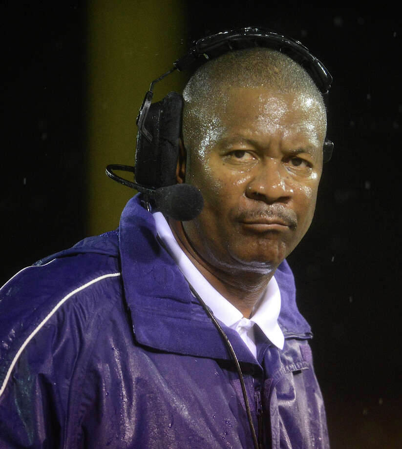Brackenridge head coach Willie Hall during a high school football game between Brackenridge and Jefferson at Alamo Stadium in San Antonio, Friday, September 28, 2012.