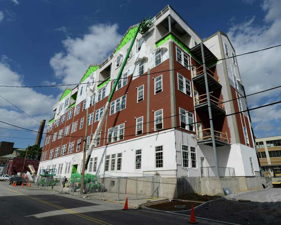 Exterior view of The Monroe with 44 apartments on Sheridan Avenue  in Albany, N.Y. Sept. 27, 2012.      (Skip Dickstein/Times Union) Photo: Skip Dickstein