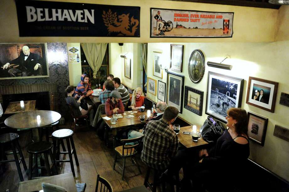 Patrons gather at the Olde English Pub on Thursday, Sept. 27, 2012, in Albany, N.Y. (Cindy Schultz / Times Union) Photo: Cindy Schultz / 00019437A