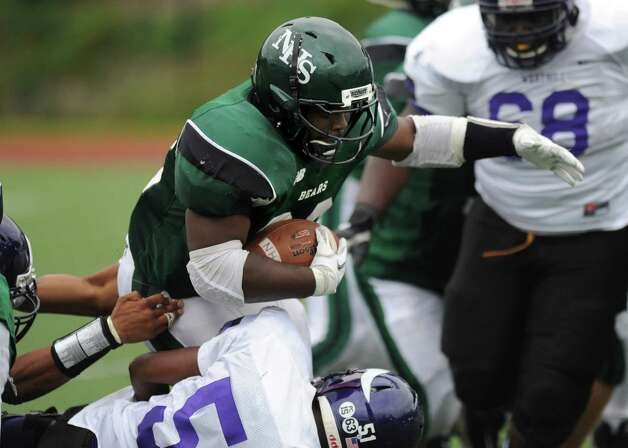 Saturday's football game against Norwalk at Westhill High School on September 29, 2012. Photo: Lindsay Niegelberg / Stamford Advocate