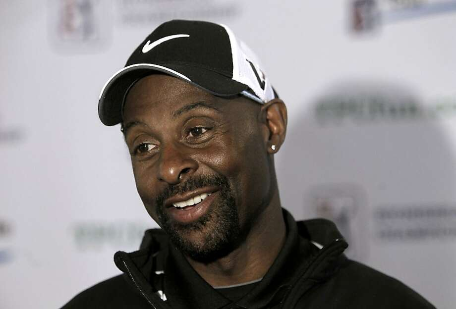 Former 49er receiver Jerry Rice talks with the media during a break at the Stonebrae Country Club in Hayward, Ca. on Tuesday Mar. 6, 2012, where he was attending a press conference. Jerry Rice, returns as tournament host and competitor of the 2012 TPC Stonebrae Championship, when the Nationwide Tour returns to TPC Stonebrae on April 11-15, 2012. Photo: Michael Macor, SFC