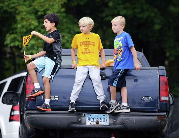 Tailgaters watch the high school football game between Brunswick School and Avon Old Farms School at Brunswick in Greenwich, Saturday afternoon, Sept. 29, 2012. Photo: Bob Luckey / Greenwich Time