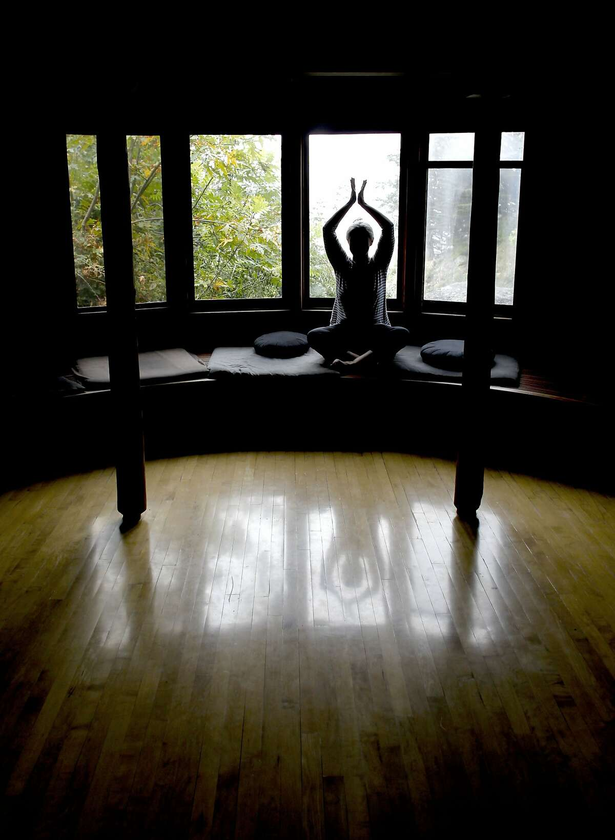 A guest vists the meditation center, at Esalen Institute in Big Sur, Calif., on Wednesday September 12, 2012. The Institute is celebrating it's 50th anniversary this year.