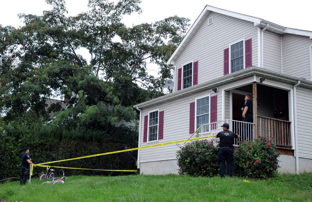 Police investigate at 284 Greenwich Avenue where a man was shot in the leg Saturday, September 29, 2012, shortly before 6 p.m.