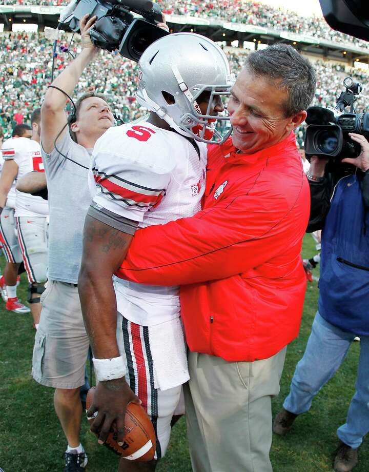 Thanks in large part to Braxton Miller (5), Urban Meyer's tenure at Ohio State is off to a perfect start. Photo: Gregory Shamus / 2012 Getty Images