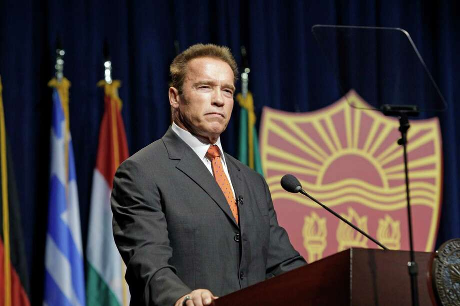 Former California Gov. Arnold Schwarzenegger will show California love by rooting for the 49ers. Photo: Reed Saxon / AP