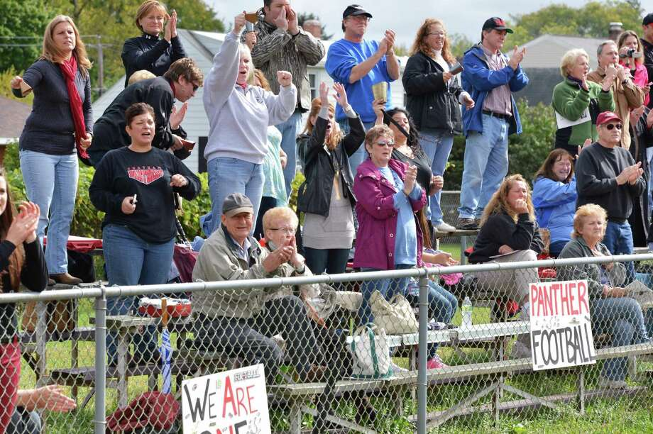 Chatham fans had a lot to cheer about during Saturday's game against Watervliet High Sept. 29, 2012.  (John Carl D'Annibale / Times Union) Photo: John Carl D'Annibale / 00019408A