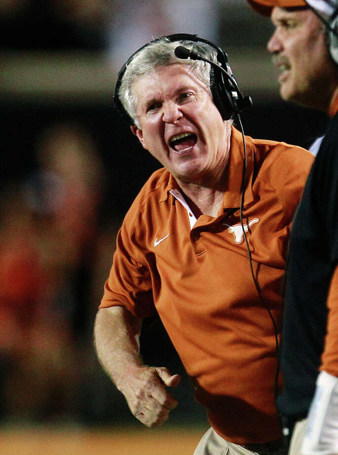 Texas coach Mack Brown said he is not comfortable with the amount of access the Longhorn Network has to his program. (AP Photo/Sue Ogrocki) Photo: Sue Ogrocki, Associated Press / AP