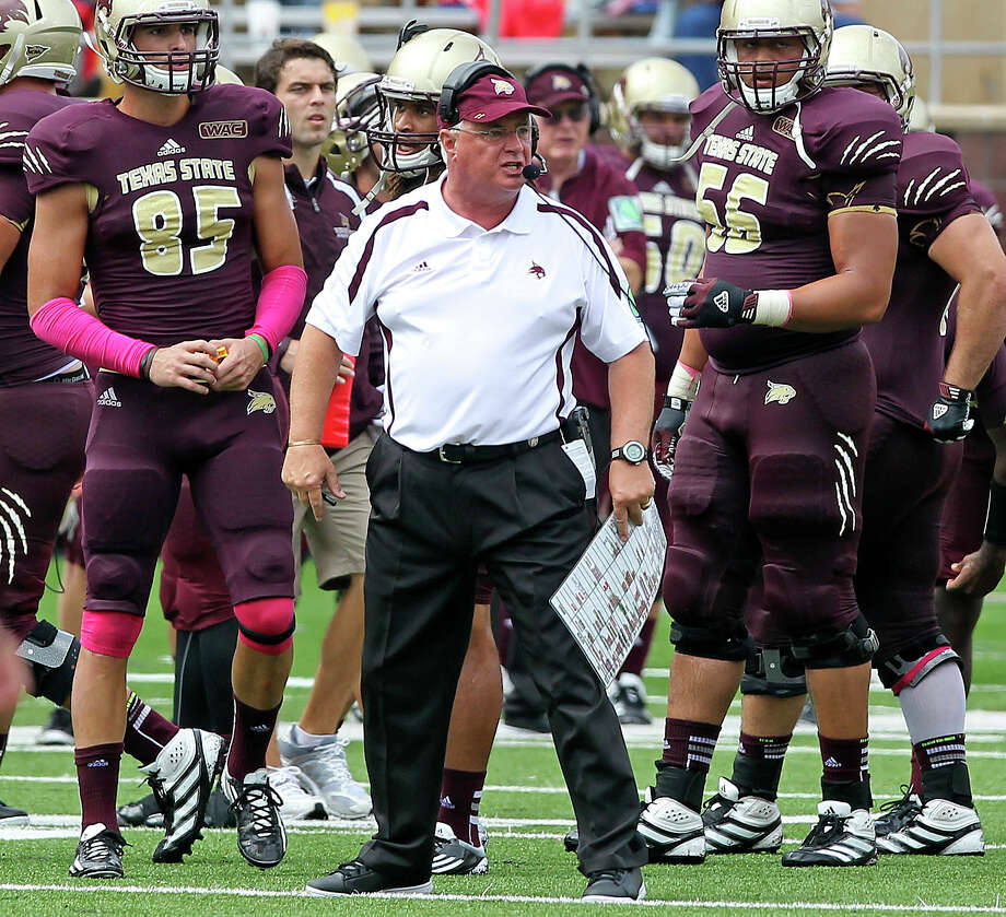 Texas State coach Dennis Franchione said he expects the Bobcats' fan base, which has been noisy at home, to continue to grow in the future. Photo: Tom Reel, Express-News / ©2012 San Antono Express-News