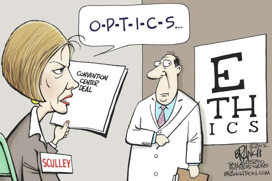 O-P-T-I-C-S or E-T-H-I-C-S? Photo: John Branch, Branchtoon.com
