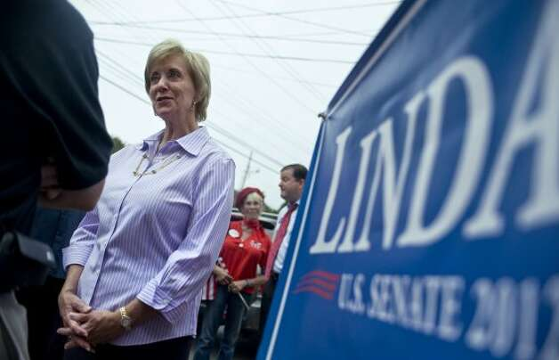 Republican candidate for U.S. Senate Linda McMahon talks to supporters at a campaign stop in Fairfield, Conn., Wednesday, Aug. 15, 2012, one day after her primary victory for the open U.S. Senate seat being vacated by retiring U.S. Sen. Joe Lieberman. (Jessica Hill / Associated Press)