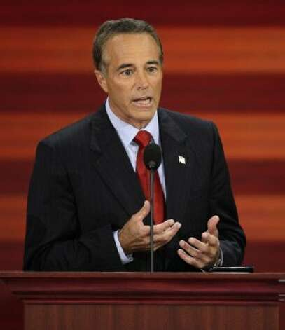 In this Sept. 3, 2008, file photo, Chris Collins of Buffalo, N.Y., speaks at the Republican National Convention in St. Paul, Minn. New York state may provide the paradigm test this election of the staying power of Republicans who rode a tea party wave to a House majority two years ago _ and for Democrats striving to regain control. The big money involved in the contests reveals the GOP's intent on preserving its foothold in the heavily Democratic state. The National Republican Congressional Committee said that it had reserved $5.25 million for TV time in New York, more than half to defend three freshmen. The rest is going to three districts held by Democrats, including the Buffalo area seat won by Kathy Hochul in a special election upset last year. Collins is challenging for her seat. (Ron Edmonds / Associated Press)