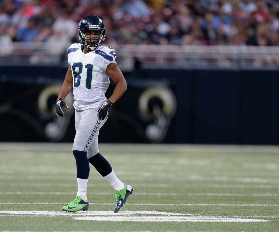 Seattle Seahawks wide receiver Golden Tate during the first half of an NFL football game against the St. Louis Rams Sunday, Sept. 30, 2012, in St. Louis. Photo: AP