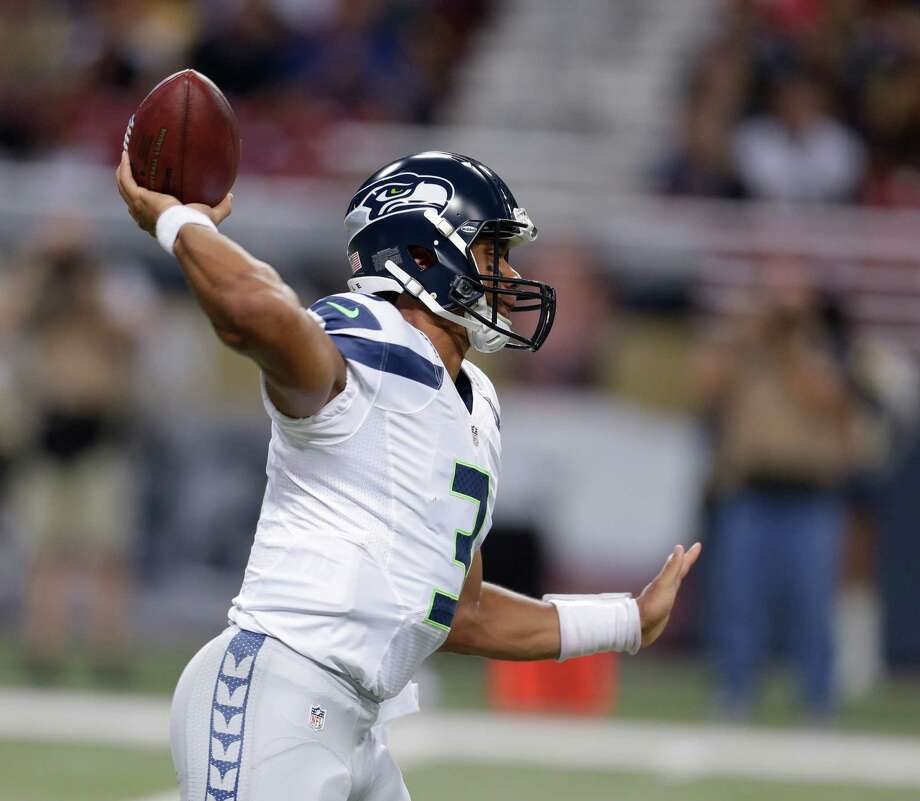 Seattle Seahawks quarterback Russell Wilson passes during the first half of an NFL football game against the St. Louis Rams Sunday, Sept. 30, 2012, in St. Louis. Photo: AP