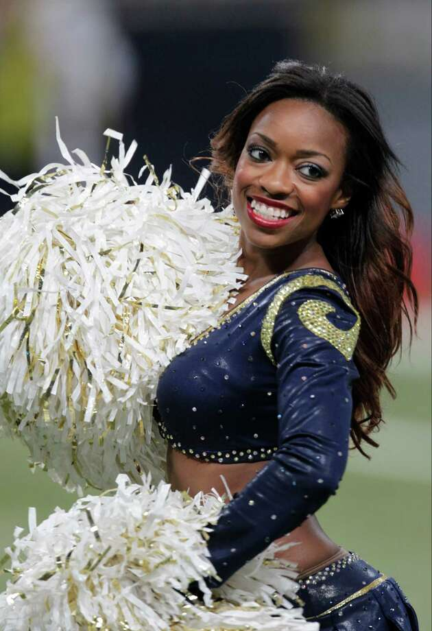 An St. Louis Rams cheerleader during the first half of an NFL football game against the Seattle Seahawks Sunday, Sept. 30, 2012, in St. Louis. Photo: AP