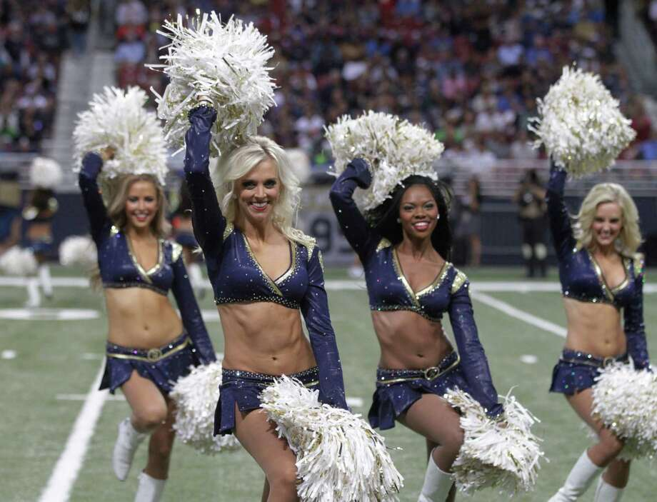 The St. Louis Rams cheerleader