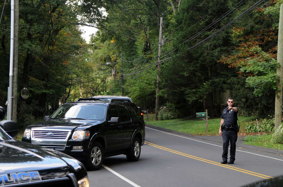Vice President candidate Paul Ryan's motorcade arrives at Woodway Country Club on Hoyt Street in Darien, Conn., Saturday, Sept. 30, 2012. Photo: Keelin Daly / Stamford Advocate