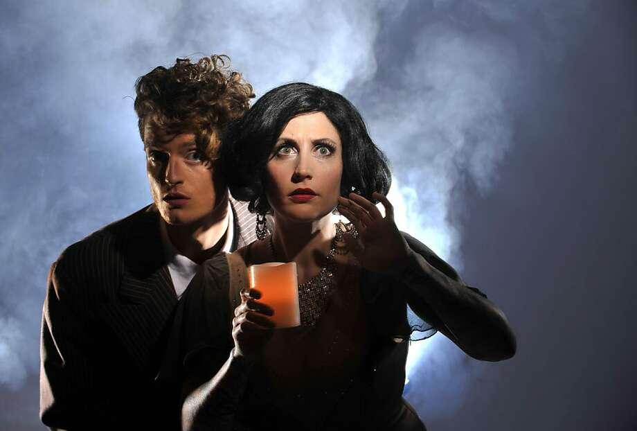 "Thrillpeddlers' ""Shocktoberfest 13: The Bride of Death"" features Dalton Goulette (left) and Bonni Suval. Photo: Davidallenstudio.com"
