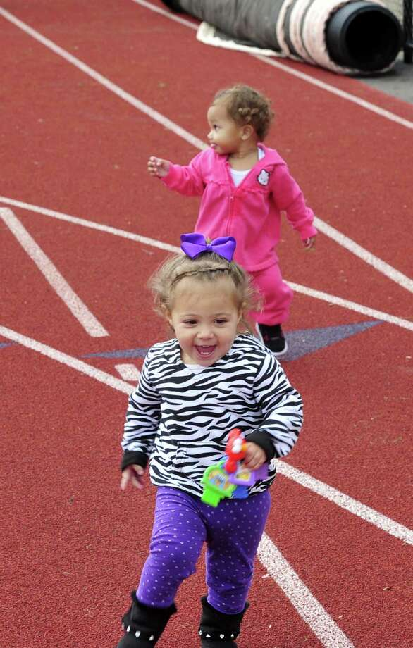 This is the 2012 Pancreatic Cancer Research Walk at the Bethel High School track Sunday, Sept. 30. Photo: Michael Duffy