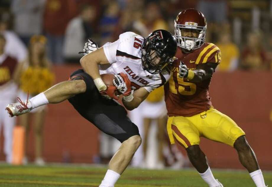 4. Texas Tech (4-0, next week vs. Oklahoma) — Red Raiders' revenge was sweet at Iowa State, particularly for an emerging defense that had yielded 93 points in last two games against Cyclones.(Charlie Neibergall / Associated Press)