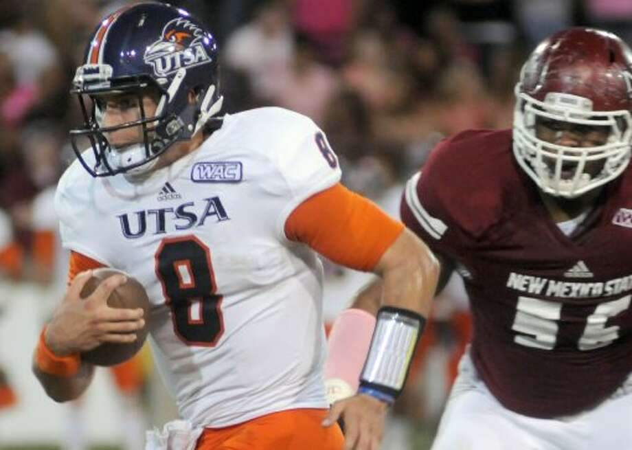 6. UTSA (5-0, next week idle) — Another week, another milestone. Beating an FBS team on the road always is an accomplishment, even against New Mexico State. (Robin Zielinski / Associated Press)