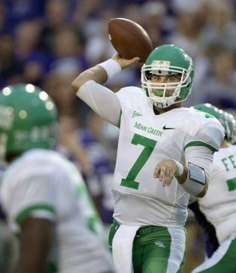 7. North Texas (2-3, next week @ Houston) — After being benched after two missed field goals last week, Mean Green K Zach Olen drills two kicks that were margin in victory over FAU. (Orlin Wagner / Associated Press)