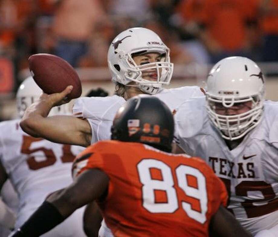 David Ash, Texas, 30-37-1, 304 yards, 3 TDs (Brett Deering / Getty Images)