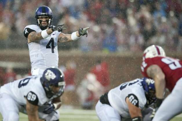 Casey Pachall, TCU, 10-26-0, 107 yards, 2 TDs   (Cooper Neill / Getty Images)