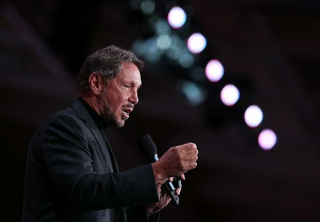 Oracle CEO Larry Ellison has used acquisitions to add cloud computing software to his portfolio. Photo: Justin Sullivan, Getty Images