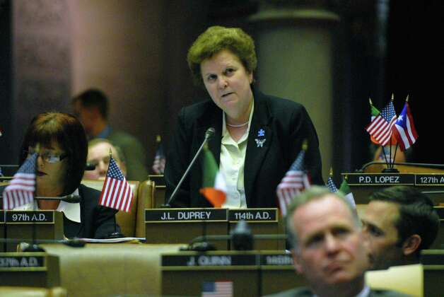 State Assembly Member Janet Duprey (R) speaks out in support of the gay marriage bill  before it goes to a vote at the Capitol in Albany, New York 5/12/2009 (Michael P. Farrell / Times Union ) Photo: MICHAEL P. FARRELL / 00003870A